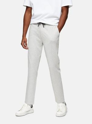 Topman Grey Stretch Skinny Jersey Joggers