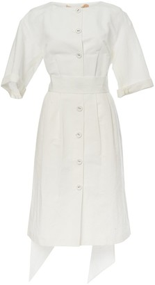 Brock Collection Bow-tie Linen Dress