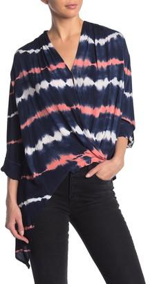 Young Fabulous & Broke Corinne Tie Dye Print High/Low Blouse