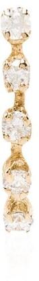 Loren Stewart 14kt Gold Curved Diamond Stud Earring