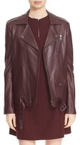 Theory 'Tralsmin Wilmore' Lambskin Leather Moto Jacket