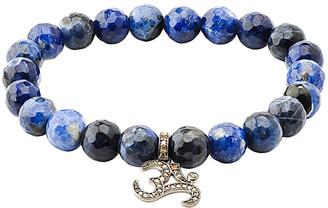 Bavna 0.34 Ct. Tw. Diamond & Blue Agate Stretch Bracelet