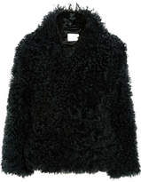 Dion Lee Shearling Coat - Forest green