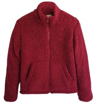 Vicki Marta Fleece Jacket Burgundy