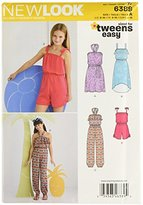 New Look 6389 Size A Girls' Easy Jumpsuit/Romper and Dresses Sewing Pattern, Multi-Colour