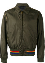 Marc Jacobs collared stripe hem jacket - men - Polyamide/Viscose - 48