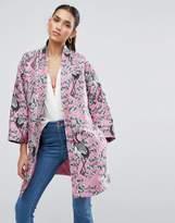 Asos Premium Kimono in Cherry Blossom Jacquard