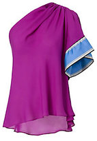Emilio Pucci One Shoulder Silk Top