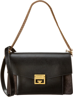 Givenchy Gv3 Medium Leather & Suede Shoulder Bag