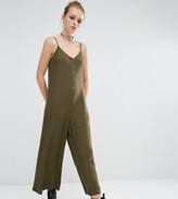 Reclaimed Vintage Button Front Minimal Jumpsuit