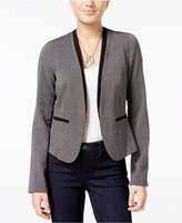 Amy Byer Juniors' Textured Open-Front Blazer