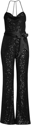 Parker Black Kallie Sequin Combo Jumpsuit
