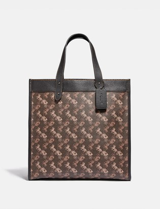 Coach Field Tote With Horse And Carriage Print