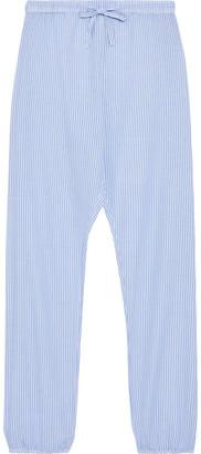 Onia Simone Striped Cotton-jacquard Tapered Pants