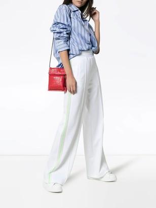 Off-White Wide Leg Side Stripe Track Pants White