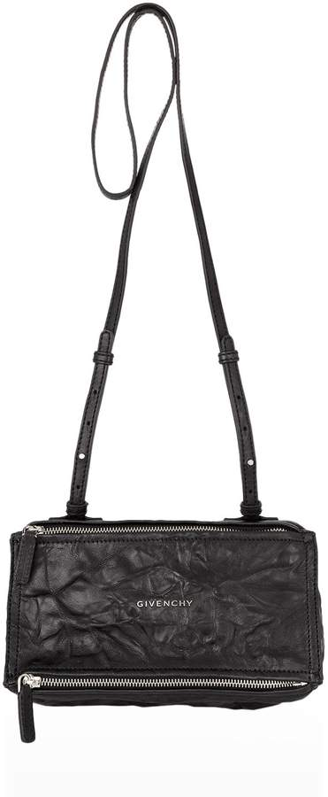 Givenchy Mini Washed Leather Pandora Shoulder Bag