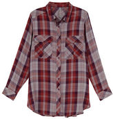 Melissa McCarthy Plus Plaid Long Sleeve Shirt