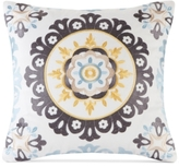 "Echo Ibiza Embroidered 18"" Square Decorative Pillow"