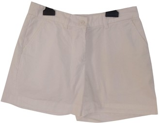 Fred Perry White Cotton Shorts for Women