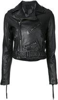 Aula cropped biker jacket