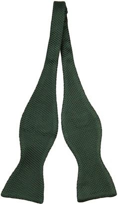 Notch Men's Knitted Self-tie Bow Tie - Dark green moss knit