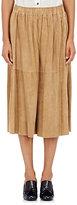 Tomas Maier Women's Suede Gaucho Pants-TAN