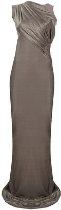 Rick Owens Lilies Sleeveless Ruched Waist Dress