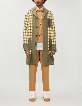 Sacai Patchwork-style cotton coat