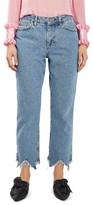 Women's Topshop Boutique Raw Hem Straight Leg Jeans