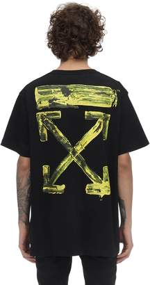 Off-White Off White OVERSIZE PRINTED COTTON JERSEY T-SHIRT