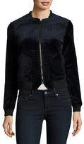 Vero Moda ?Zip-Up Velvet Quilted Jacket