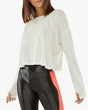 Koral Storm Cupro Cutout Back Cropped Tee