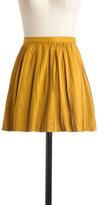 Cute En Route Skirt in Goldenrod