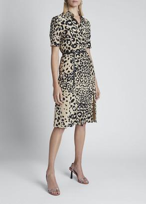 Altuzarra Leopard-Print Belted Shirtdress