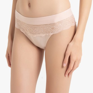 La Redoute Collections Lace and Microfibre Knickers