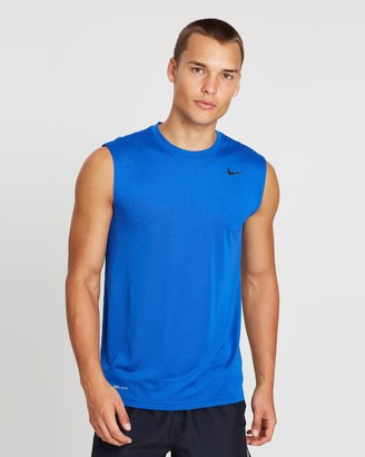 Nike Men's Blue Singlets - Legend 2.0 Sleeveless Tee - Size M at The Iconic