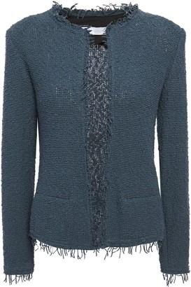 IRO Shavani Fringed Cotton-blend Boucle-tweed Jacket