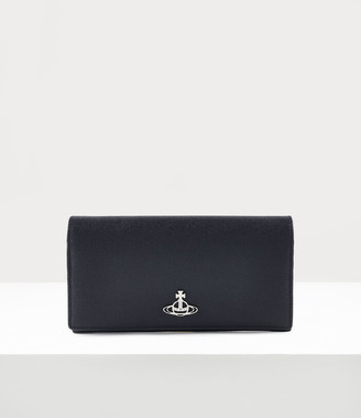 Vivienne Westwood Windsor Long Wallet With Long Chain Black
