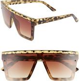 Quay x JLO Hindsight 67mm Shield Sunglasses