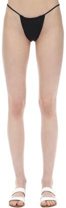 Aexae Gathered Nylon & Lycra Bikini Bottoms