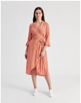 Hi There From Karen Walker Shawl Collar Wrap Dress
