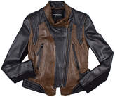 Members Only Two Tone Moto Jacket