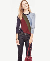 Ann Taylor Colorblock Milano Sweater