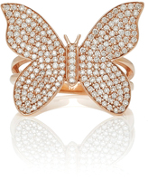 Sydney Evan Large Pave Butterfly Ring