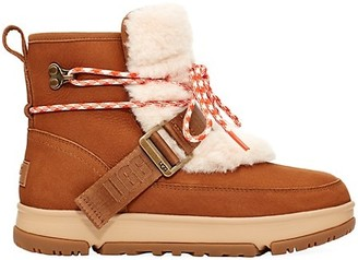 UGG Classic Weather Faux Fur-Trimmed Leather Hiking Boots