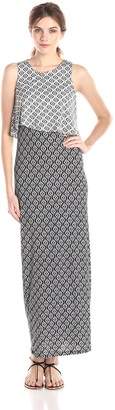 RD Style Women's Printed Sleeveless Maxi Dress