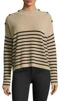 The Kooples Striped Cashmere Pullover