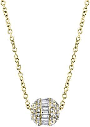 Ron Hami 14K Yellow Gold Diamond Barrel Pendant Necklace - 0.48 ctw