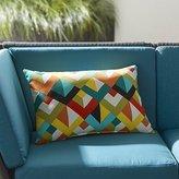 Crate & Barrel Gems Outdoor Lumbar Pillow