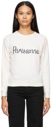 MAISON KITSUNÉ Off-White Parisienne Sweatshirt